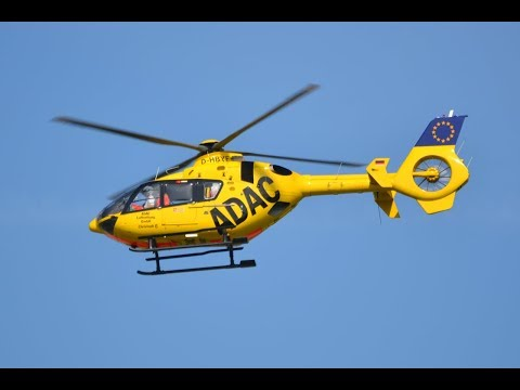 ADAC EC135 Helicopter rescues drowning victim.  Hot air balloon suicides??