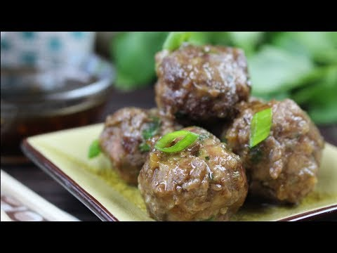 Asian Meatballs with Teriyaki Sauce A Collaboration with Best Bites Forever