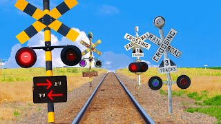 【踏切アニメ】線路で遊ぶふみきり♪ \ニンジャ/ | Ninja! Various railroad crossings and trains!