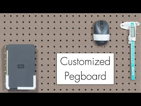 Pegboard Anything // Custom 3D Printed Hangers using Photogr