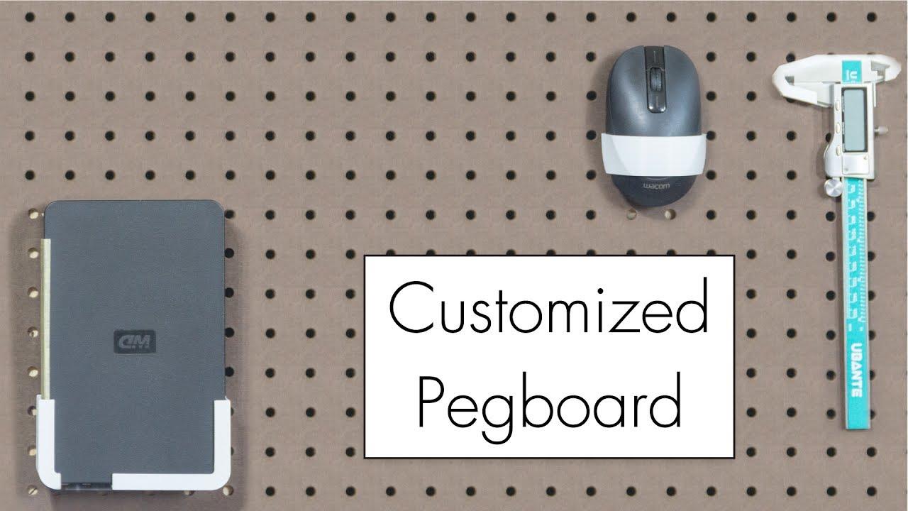 3D printed peg board parts