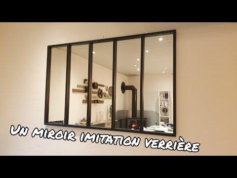 Comment faire un miroir imitation verrière? #miroir #indus # verriere