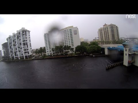 Live Hurrican Irma Ft. Lauderdale Intercoastal