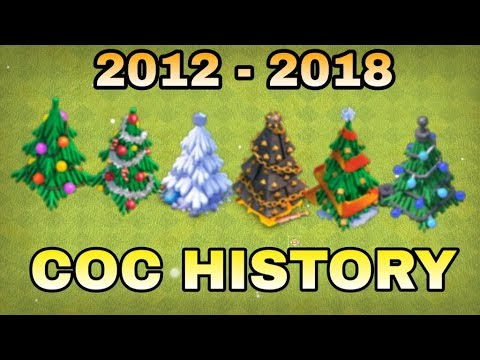 Clash Of Clans Christmas Trees In Order.Clash Of Clans Special Obstacles History 2012 18