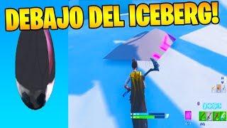 BUG to SEE a CUBE RUNA UNDER THE ICEBERG!! FORTNITE 😱🗻