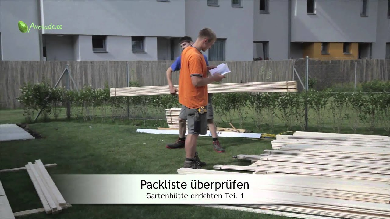 gartenh tte bauen in 6 schritten teil 1 das abladen sortieren youtube. Black Bedroom Furniture Sets. Home Design Ideas