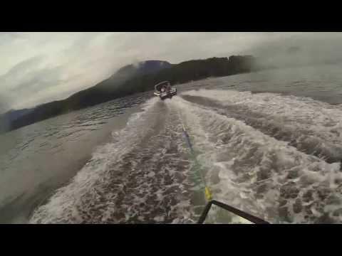 Water skiing Gambier Island