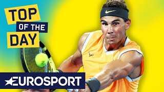 Top 10: Shots of the Australian Open 2019 | Nadal, Federer, Evans | Eurosport