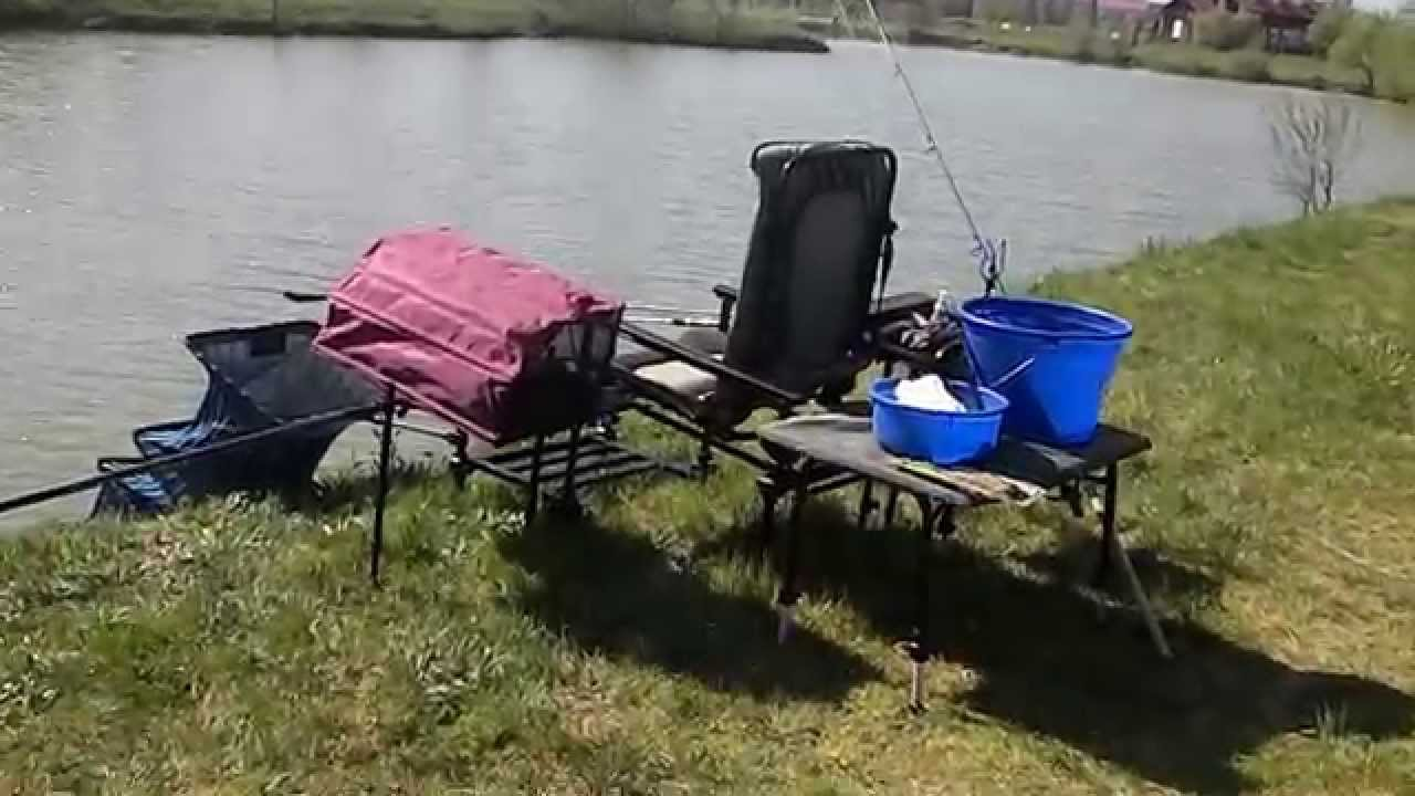 fishing chair setup white kids table and chairs korum preston innovations feeder station simply the best youtube premium