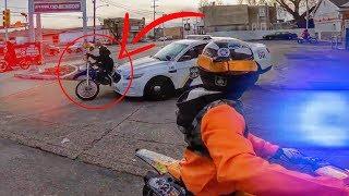 Police Knock Biker Over - Cops Vs Bikers 2019