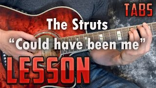 The Struts-Could have been me-Acoustic version-Chords and Rhythm-Guitar Lesson-How to play-tutorial