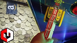 Winning ALOT of Tickets at The Coin Pusher Arcade Game!