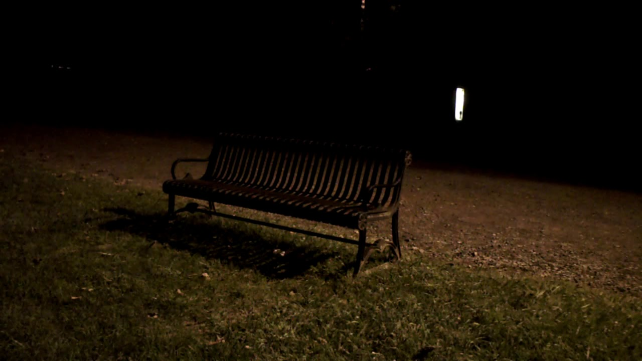 Park Bench At Night Youtube