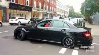 Extremely loud AMG C63, AMG GT, Porsche 918 Spyder, 599 gto, Aventador Roadster