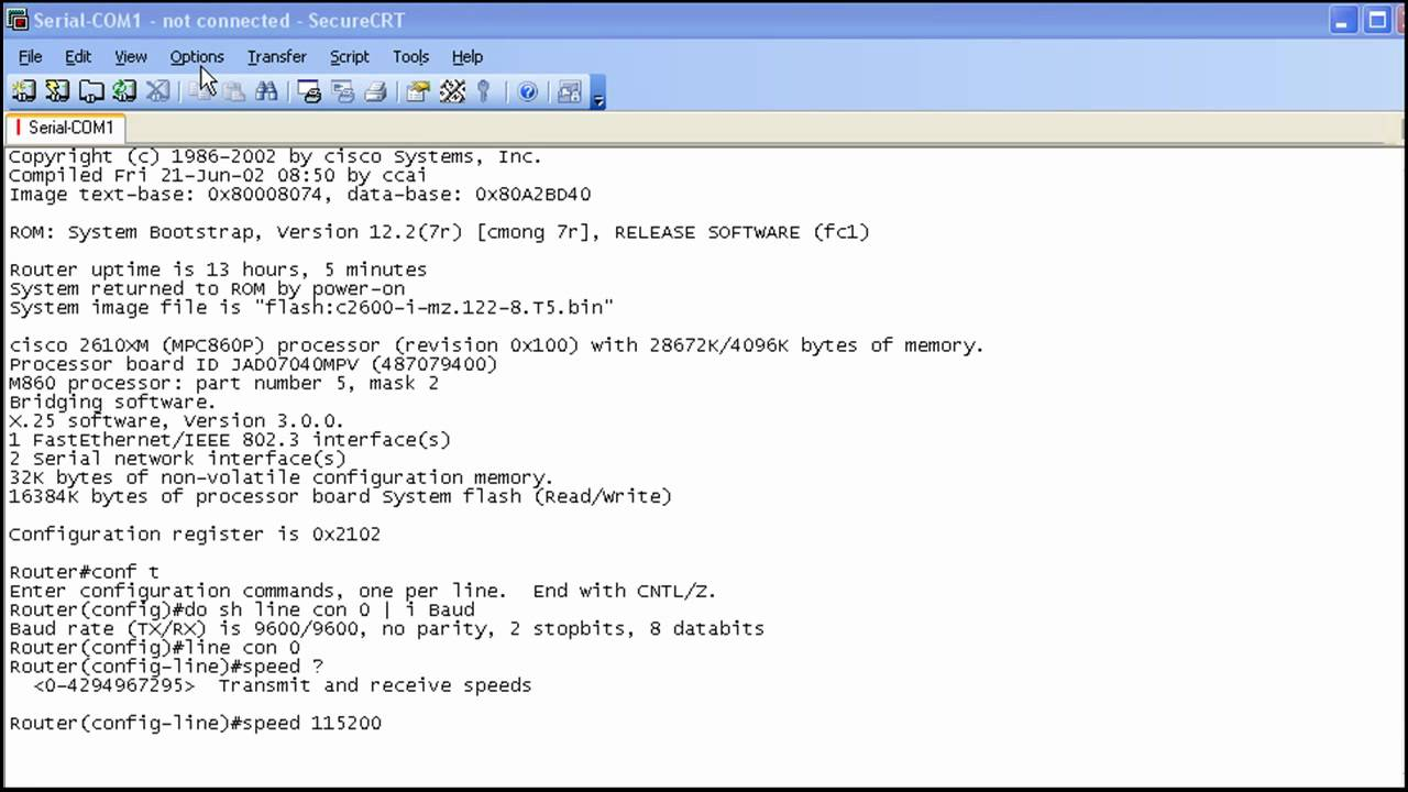 Copying Files With XMODEM Lab - Part 1