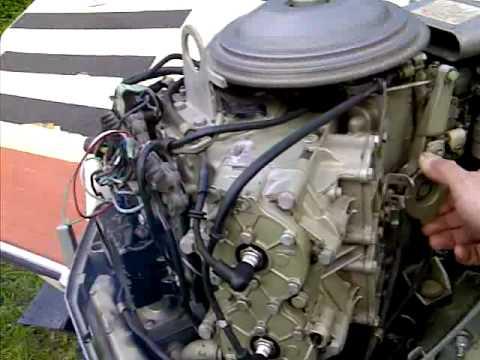 100 Hp Electric Motor Wiring Diagram 1970 Evinrude 85 Hp Youtube