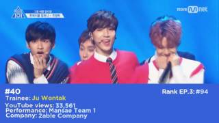 [TOP 98 PRODUCE 101 S2] Most Viewed Fancam Group Mission on YouTube