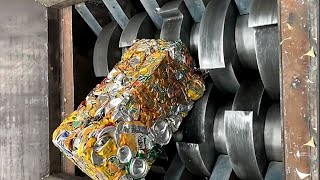 Most powerful crusher machines fast crushing everything for new recycle. Shredder !