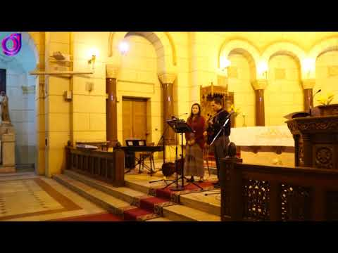 Christian hymns and visit to the tomb of Baron Empain under the Basilica