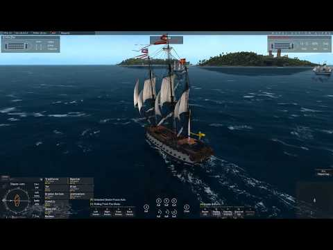 Naval Action: PvP- French Ocean and vanguard fleet tries to escape the swedes.