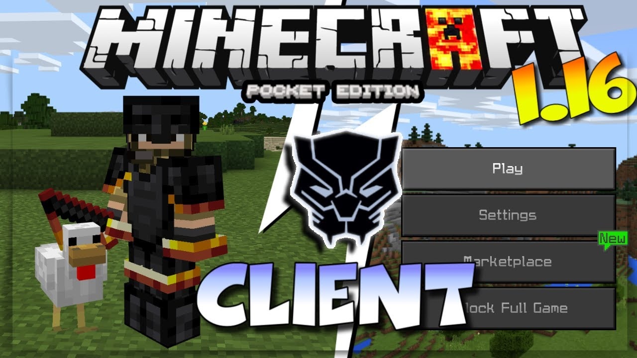 MCPE 1.16 BLACK PANTHER CLIENT - MINECRAFT PE 1.16 BLACK PANTHER CLIENT - FPS BOOSTER (Kinda)
