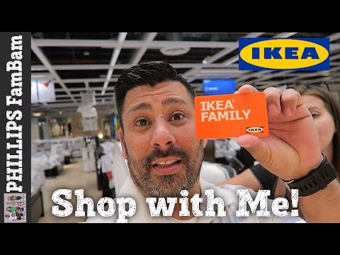 SHOP WITH ME   IKEA BEDROOM MAKEOVER SHOPPING   IKEA FAMILY   PHILLIPS FamBam Vlogs