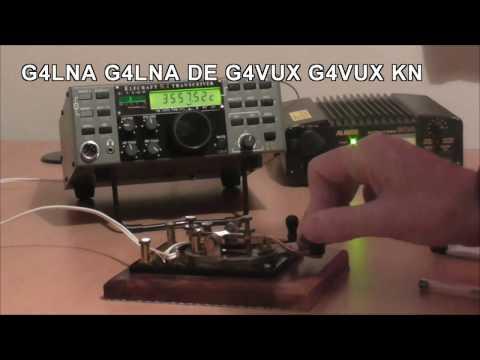 CW QSO using Straight Keys