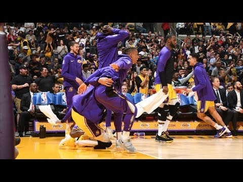 Lance Steps on Green's Foot Lakers Bench Goes Crazy! 2018-19 NBA Season thumbnail
