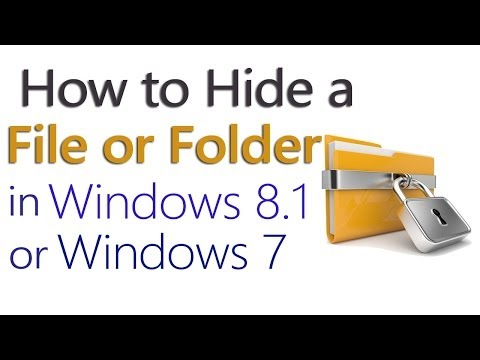 How To Hide A Files/Folders In Windows® 8.1