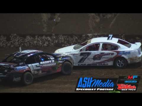 Modified Sedans: Queensland Title A-Main Race Highlights - Apr 2017 - Archerfield Speedway