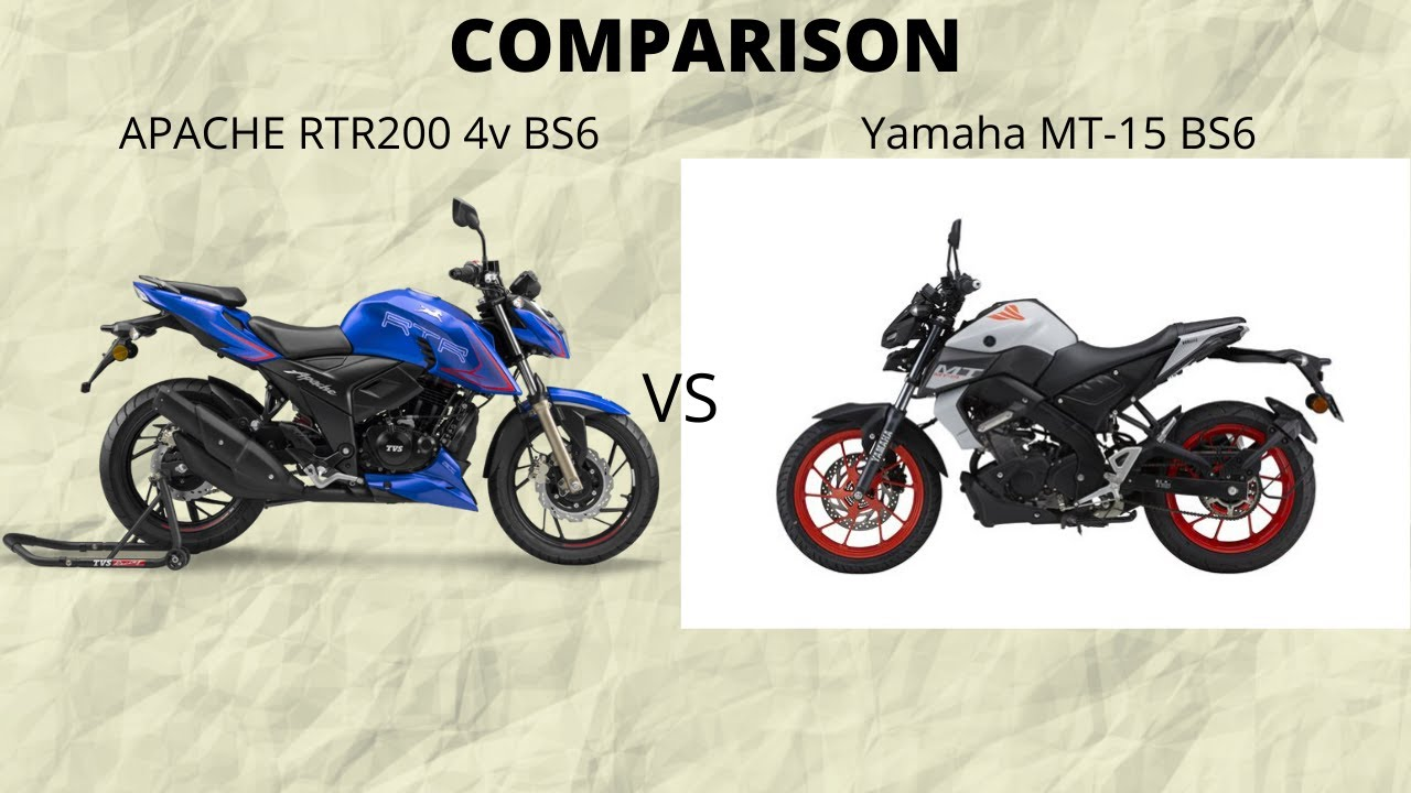 Download Yamaha MT 15 BS6 vs Apache rtr200 4v BS6 - Detailed comparison in Tamil | D VLOGS|