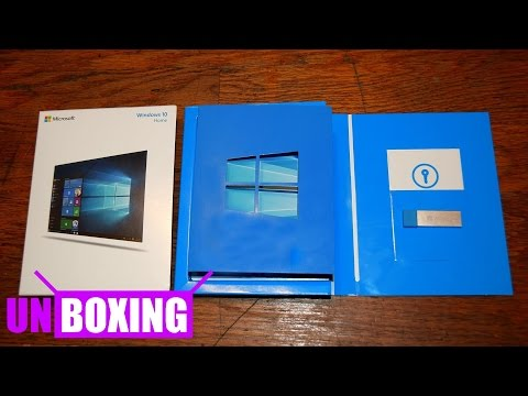 Unboxing Windows 10 Home USB