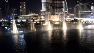 Dubai Fountains at night | Burj Khalifa | Dubai Mall