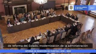 Audiencia de Rendición de Cuentas de Función Pública 2019 – 2020