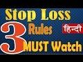 3 Principles of Stop Loss Strategy Hindi
