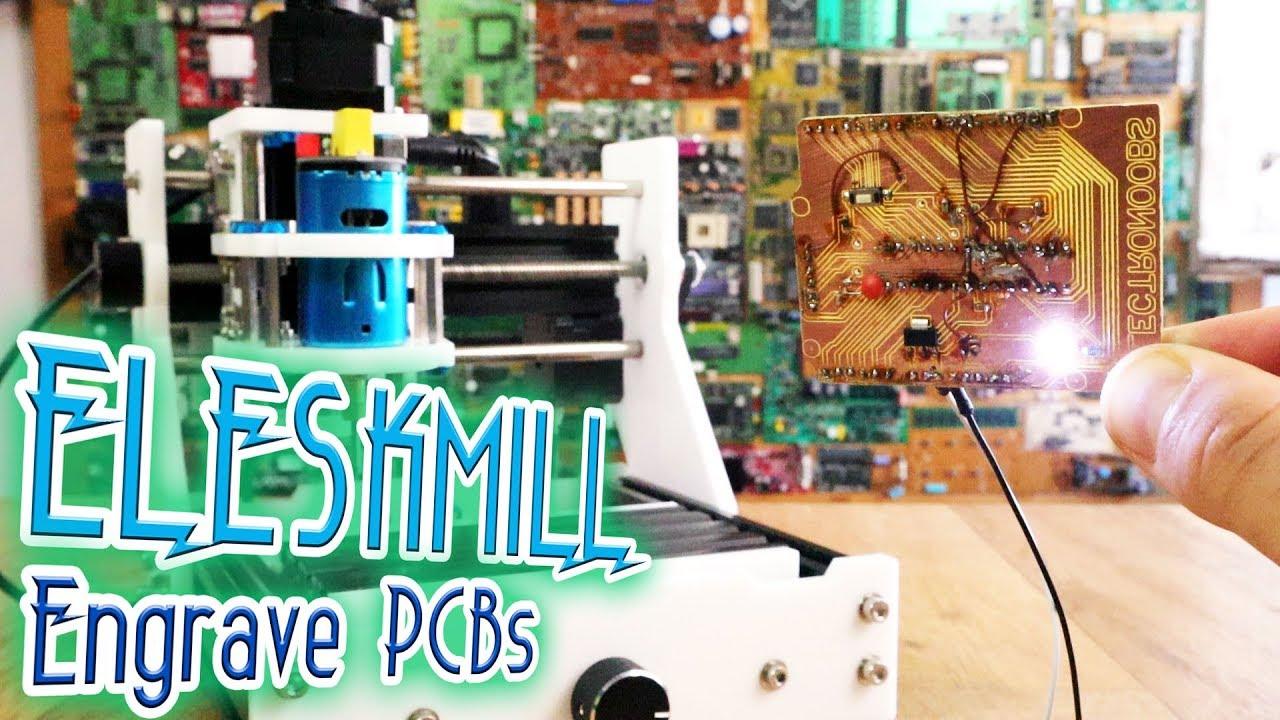 ELEKSMILL CNC mill - PCB engrave - Самые лучшие видео