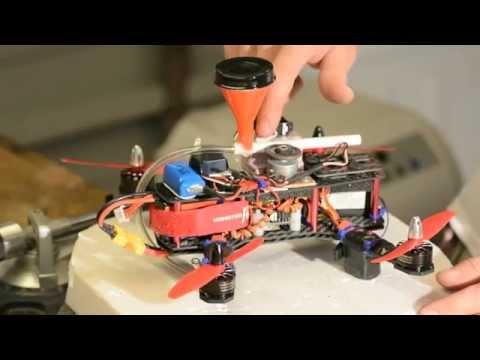 BB Machine Gun On A Drone (QAV250 FPV)