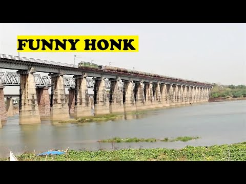 WAG9 Freight Funny Hello Narmada River Bridge