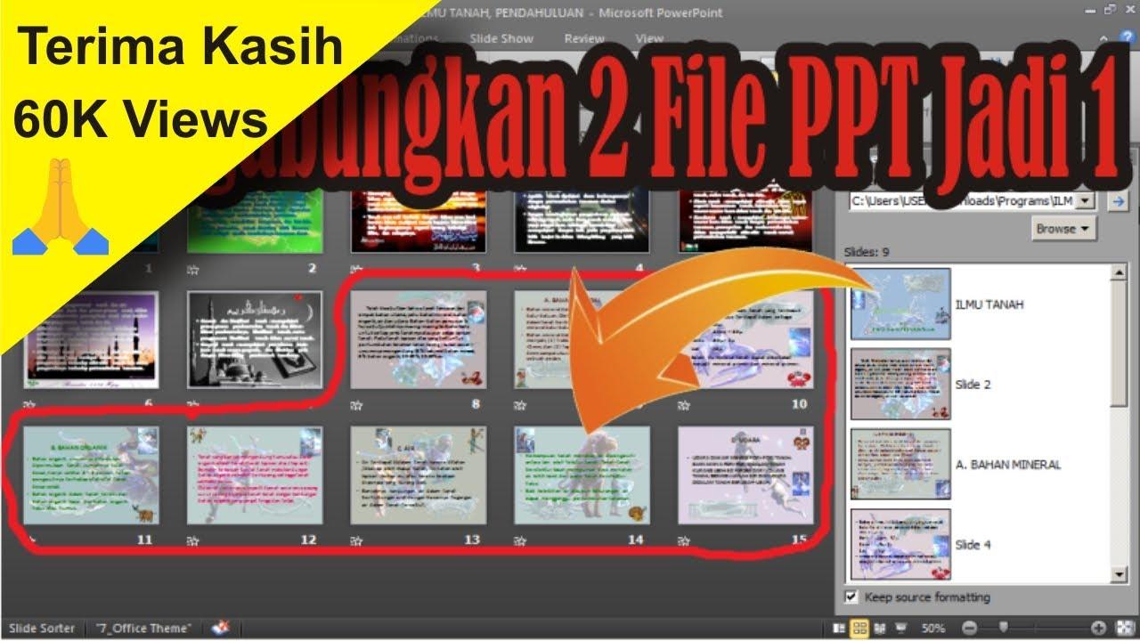 Cara Menggabungkan 2 File Powerpoint Ppt Menjadi Satu Simple News Video Youtube