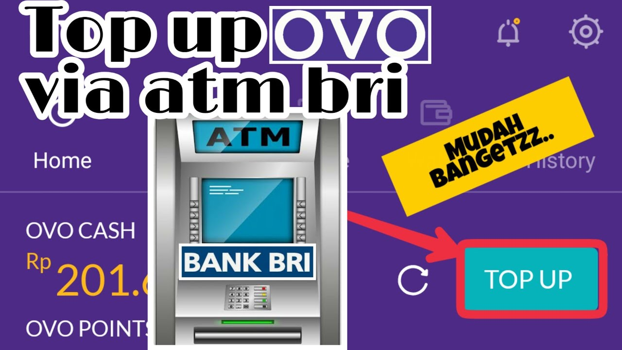 Cara Top Up Ovo Lewat Atm Bri Youtube