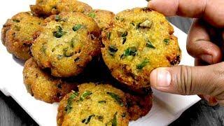 सफर की भूख में या चाय के साथ खाये ऐसा चटपटा करारा नाश्ता स्वाद भा जायेगा | PALAK POHA KI TIKKI