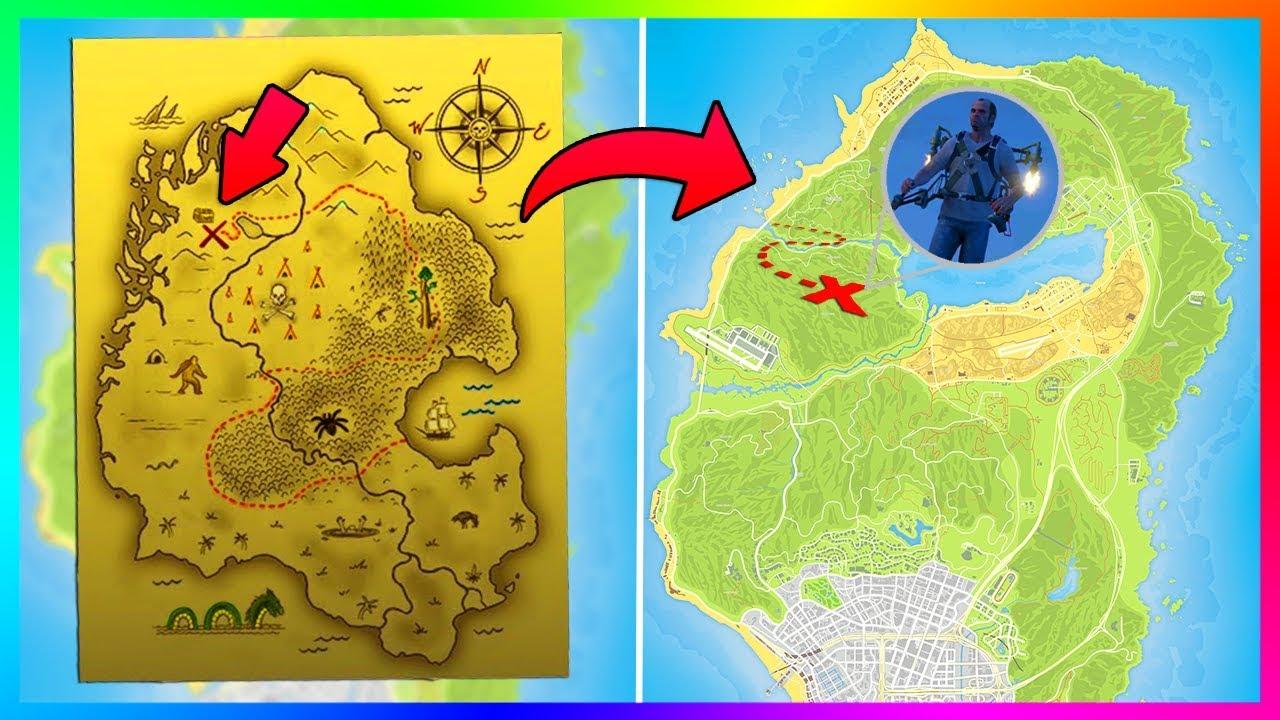 gta treasure map secret chiliad mount mystery jetpack