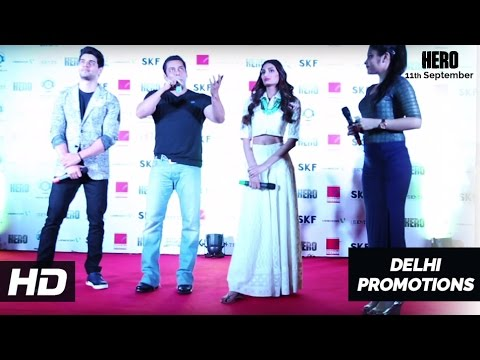 Salman Khan, Sooraj Pancholi, Athiya Shetty in Delhi | Hero Promotions