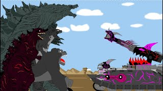 Alien Tanks Vs Godzilla ,Godzilla Earth, Shin Godzilla And King Kong - Full Series