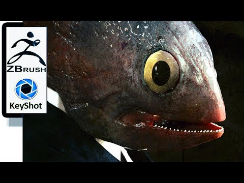 Zbrush & Keyshot * Business Fish - - Cyrille-Dethan