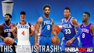 NBA 2K16 Play Now Online: Philadelphia 76ers Challenge! | This Team is Trash!