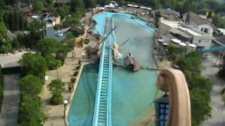 Atlantica SuperSplash Front Seat on-ride POV Europa Park, Germany
