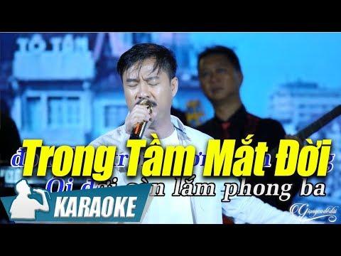 Trong Tầm Mắt Đời Karaoke Quang Lập (Tone Nam) | Nhạc Vàng Bolero Karaoke