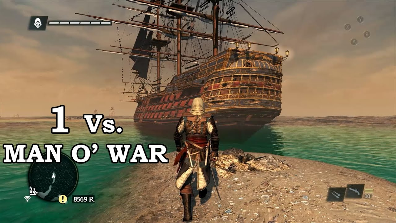 Iphone 7 Live Wallpaper Not Working Assassin S Creed 4 Black Flag 1 Vs Man O War Youtube