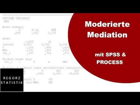 Moderierte Mediation Mit PROCESS: Ausführen Und Interpretieren